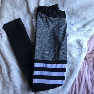 f836129e7d Prettyfitbox Pants | Thigh High Sock Leggings Striped | Poshmark